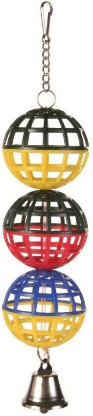 Trixie 5251 Zabawka 3 piłki z dzwonkiem 4,5cm