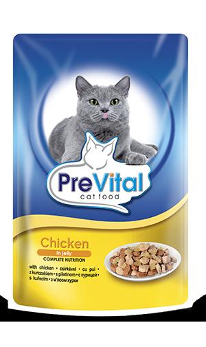 PreVital 2034 saszetka dla kota 100g Kurczak gal.