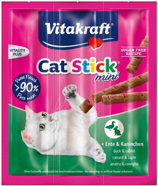 Vitakraft 2005 Cat Stick mini 3szt Kaczka Królik