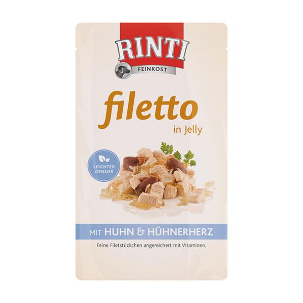 Rinti 95402 Filetto Kurczak Serca 100g galaretka