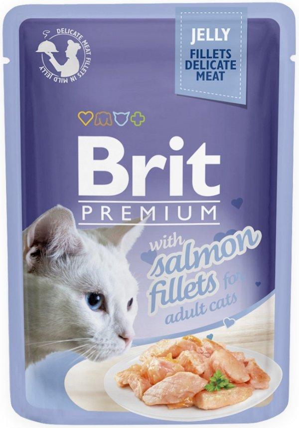 Brit 8487 Premium Cat 85g Łosoś galaretka saszetka