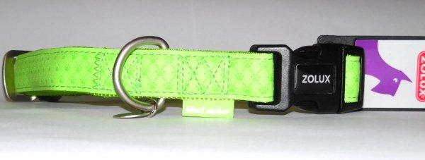 Zolux 435172ANI Obroża Mac Leather 20mm seledyn
