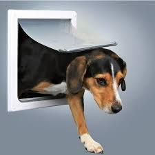 Trixie 3878 Drzwi dla psa S-M 22,5x29,5cm białe