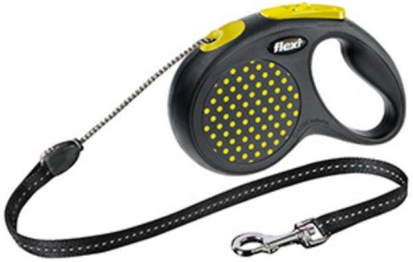 Flexi 2551 Design S Cord 5m 12kg żółta*