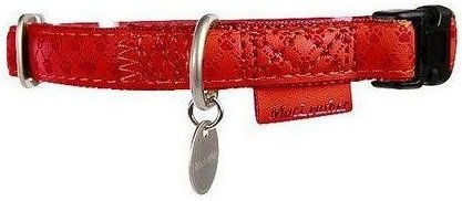 Zolux 522035RO Obroża Mac Leather 15mm czerwony