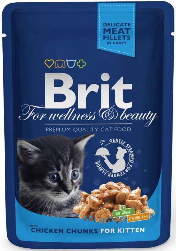 Brit 6026 Premium Cat 100g Kitten Kurczak saszetka