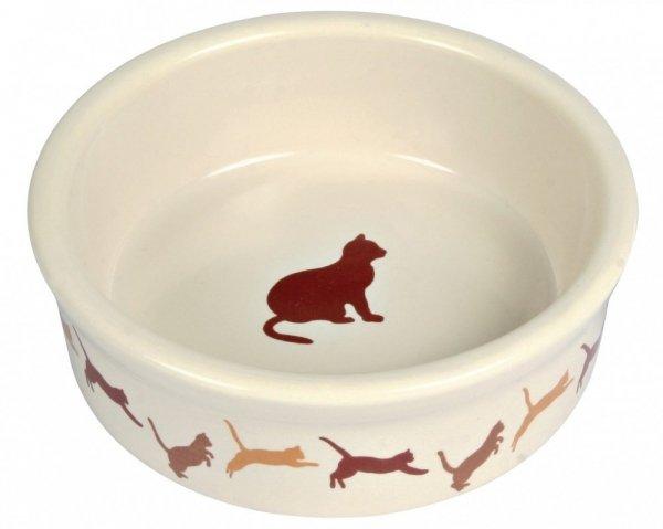 Trixie 4007 Miska ceramiczna dla kota z motywem