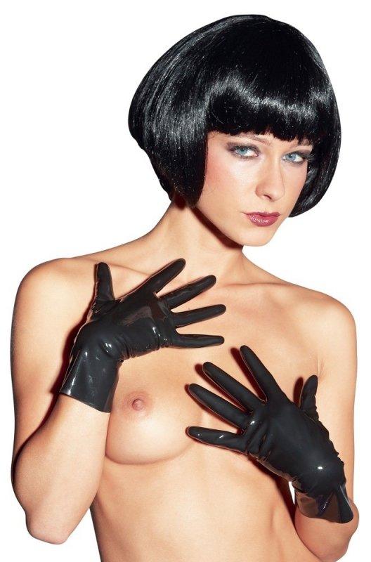 Lateksowe rękawiczki  czarne S