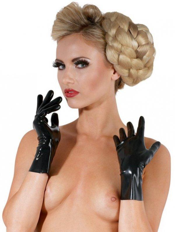 Lateksowe rękawiczki  czarne L
