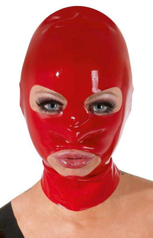 Lateksowa maska czerwona