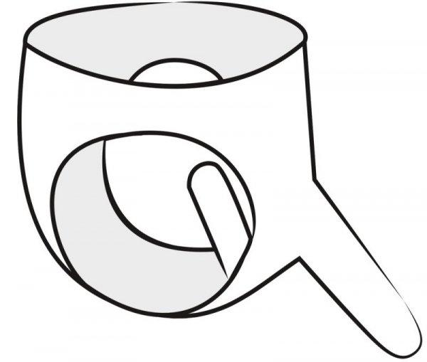 Lateksowe majtki z dildo S-L