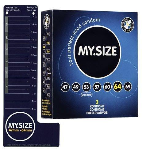Prezerwatywy 64 mm 3 szt. My.Size
