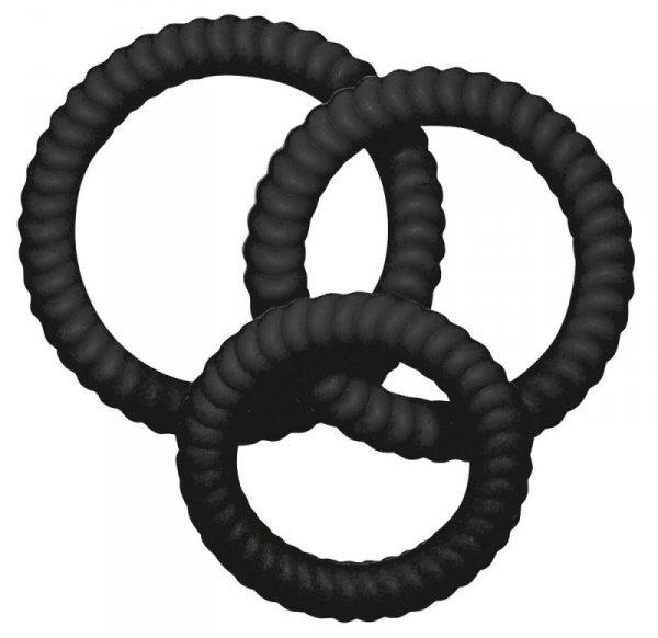 Silikonowe ringi czarne 3 szt.