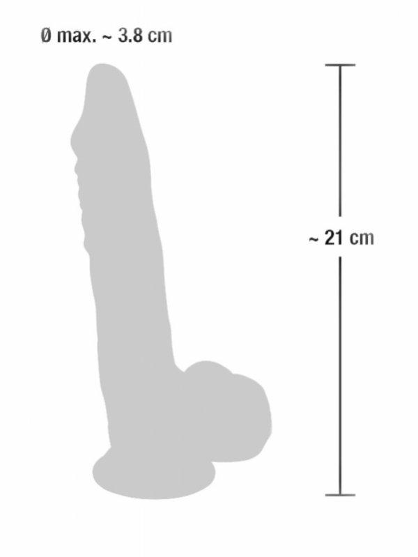 Dildo silikonowe medyczne z przyssawką 21 cm