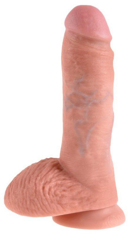 Dildo z przyssawką 21 cm King Cock