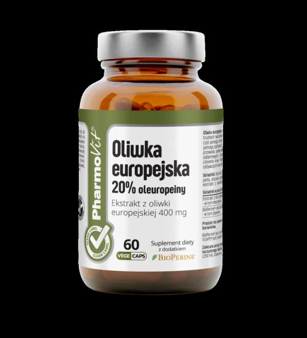 Oliwka europejska 20% oleuropeiny - 60 kapsułek Vcaps® PharmoVit