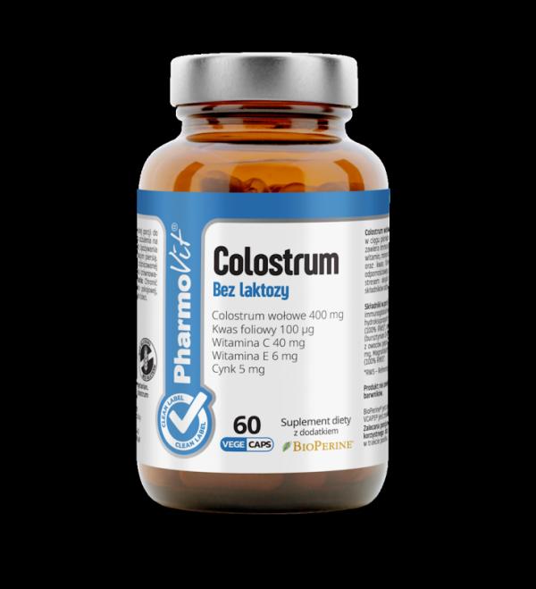 Colostrum Bez laktozy- 60 kapsułek Vcaps® PharmoVit