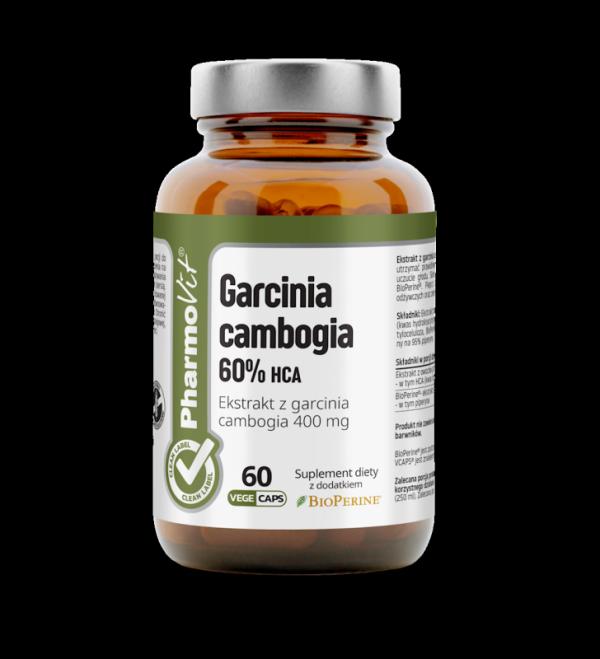 Garcinia cambogia 60% HCA - 60 kapsułek Vcaps® PharmoVit