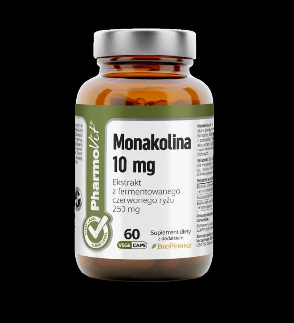 Monakolina 10 mg Ekstrakt z fermentowanego czerwonego ryżu 250 mg- 60 kapsułek Vcaps® PharmoVit