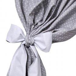 Lulando Zasłony 155x120 cm szare w białe groszki