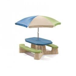 STEP2 Stół Piknikowy z Parasolem i ławeczkami