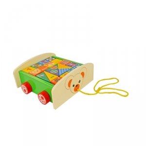 SMILY PLAY DT6084 Wózek z klockami