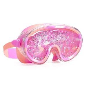 Maska do pływania z brokatem, różowa, Bling2O