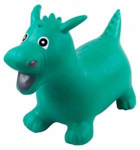 Skoczek smok gumowy - zielony