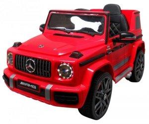 Mercedes G63 czerwony  Piankowe koła Eva, miękki fotelik Licencja
