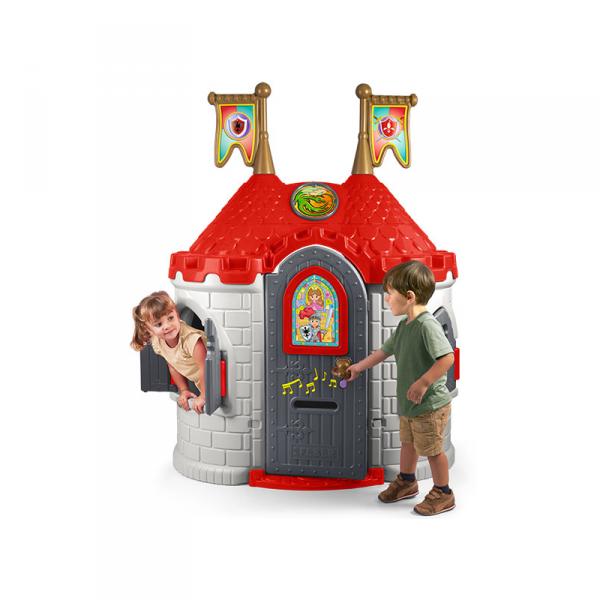 FEBER Domek dla Dzieci Średniowieczny Zamek Dźwięk Otwierane Drzwi Okna