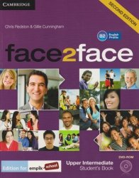 face2face Second Edition Upper-Intermediate Students Book + DVD Chris Redston, Gillie Cunningham