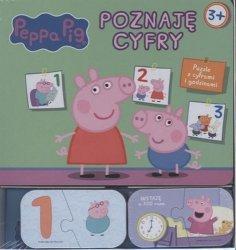 Świnka Peppa Poznaję cyfry Książka z puzzlami