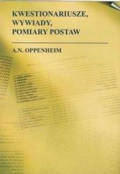 Kwestionariusze wywiady pomiary postaw AN Oppenheim