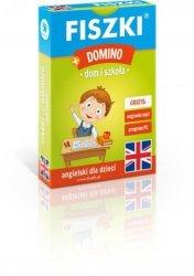 Fiszki obrazkowe + Domino Dom i szkoła język angielski Kinga Perczyńska