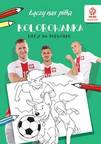 Piłka nożna Mecz na podwórku Kolorowanka
