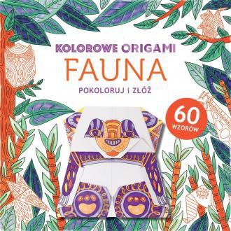 Kolorowanka z origami. Fauna