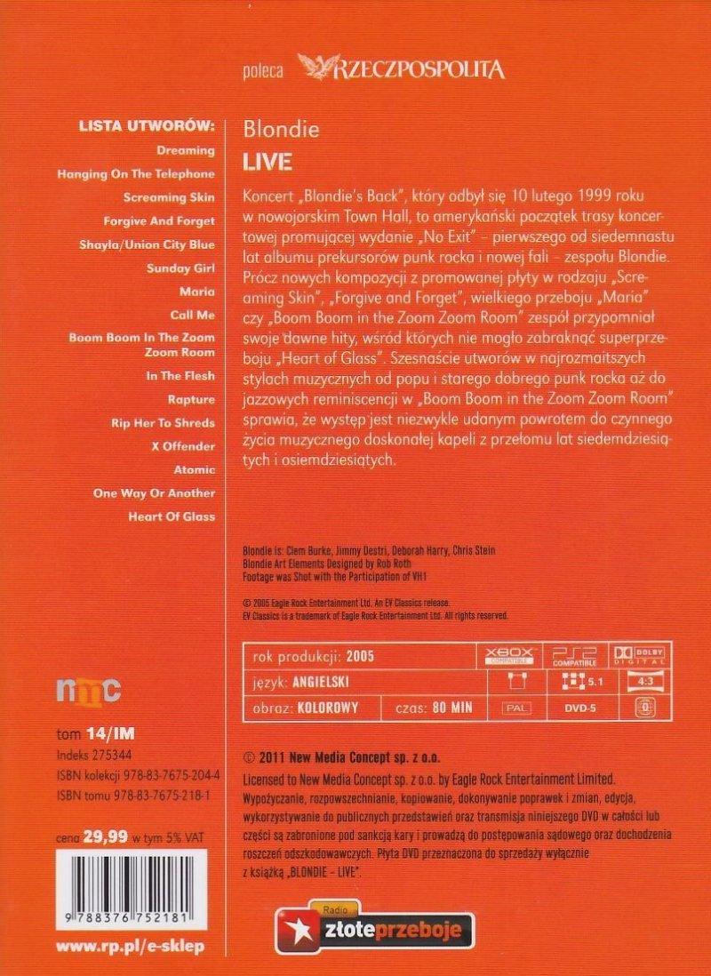 Blondie Live książka + koncert