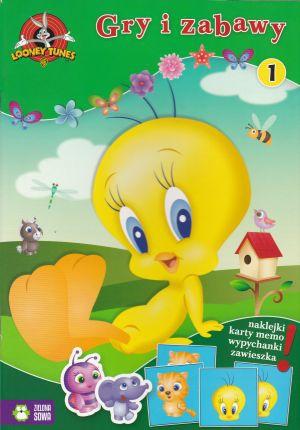 Gry i zabawy Looney Tunes zeszyt 1 (naklejki, karty memo, wypychanki, zawieszka)