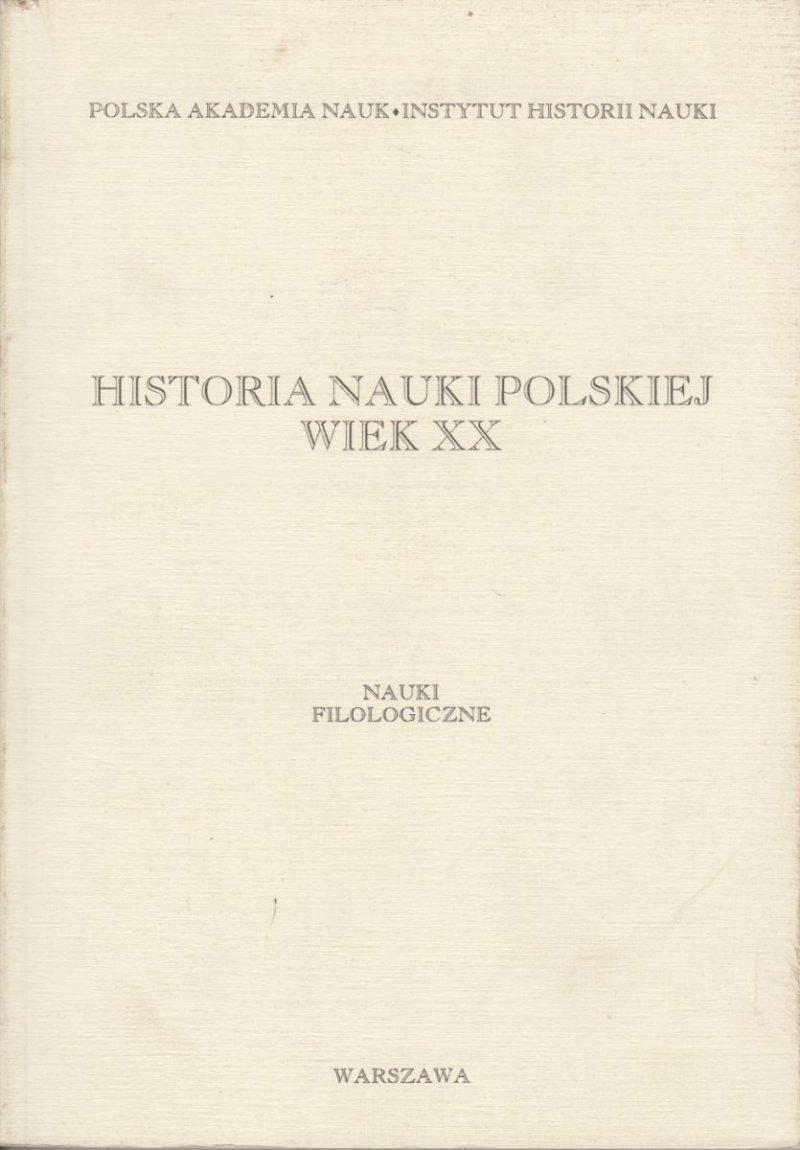 Historia nauki polskiej Wiek XX Nauki Filozoficzne