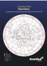 Duża planisfera Levenhuk M20
