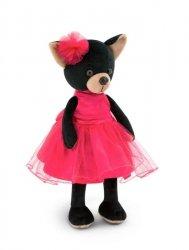 Przytulanka piesek Lucky Blacky w sukience #T1