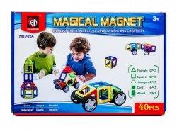 Kolorowe klocki magnetyczne MAGICAL MAGNET 40SZT #E1