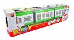 Jeżdzący Pociąg Tramwaj  Światło i Dźwięk Duży Zielony