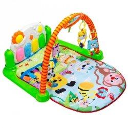 Mata Edukacyjna dla dzieci z pianinkiem małpka #E1