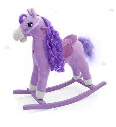 Koń na biegunach Princess Fioletowy #B1