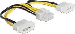Kabel DELOCK 8Pin Eps(F) -2x Molex 4Pin 83410