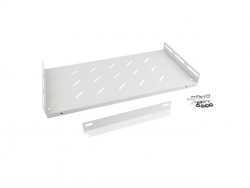 LANBERG 19inch fixed shelf with angle bar 1U/496x280mm max load capacity up to 120kg grey