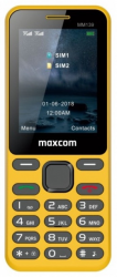 Telefon MAXCOM MM 139 Dual SIM Żółty