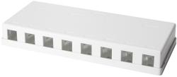 Puszka natynkowa dla 8x moduł keystone UTP