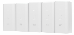 UBIQUITI POE-24-12W-5P Ubiquiti PoE-24 Passive PoE Adapter EU, 24V 0.5A, groud/ESD protection, 5 PACK